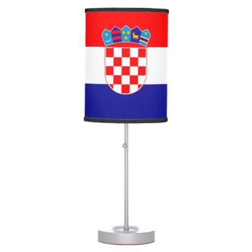 Croatian flag Lamp