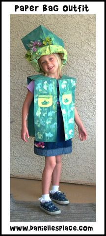 Grocery Bag Outfit Craft for Earth Day Celebration from www.daniellesplace.com