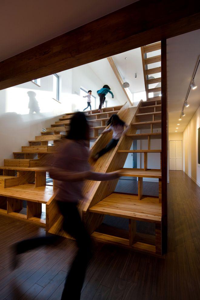 We always dreamed of having a stair slide.