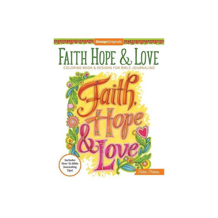 Faith hope love coloring book creative faithby