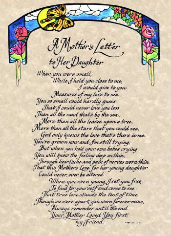 mothers day letter from daughter 439 best daughters images on 46334