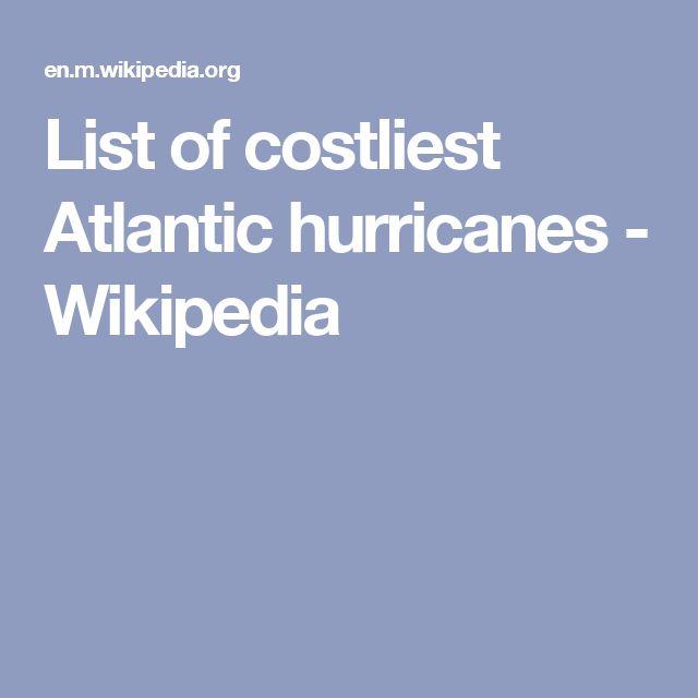 HURRICAINE: List of costliest Atlantic hurricanes - Wikipedia