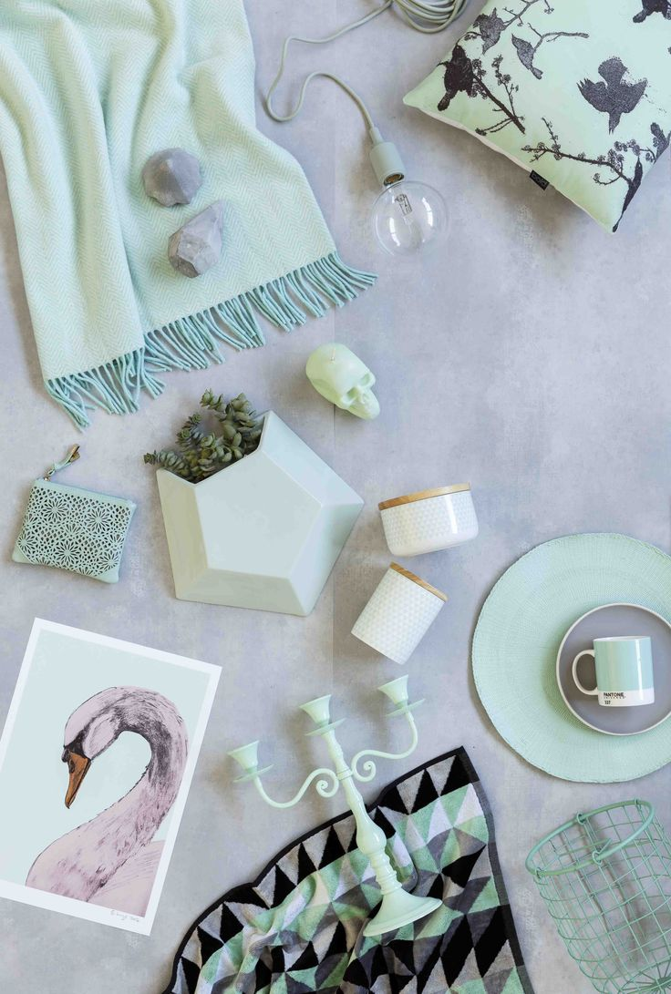 Mint and grey - styling by Vanessa Nouwens; photo by Bauer Media Group Studios for Your Home and Garden, July 2014
