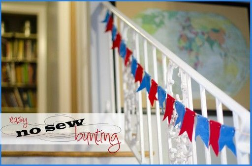 Easy No Sew Bunting using felt and brads