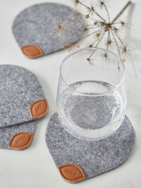 Felt and Leather Coasters - Nordic House#felt #coaster