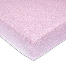 image of Glenna Jean Stella Fitted Crib Sheet in Pink