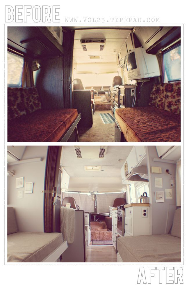 RV redo before and after pictures.  Work with what you have.