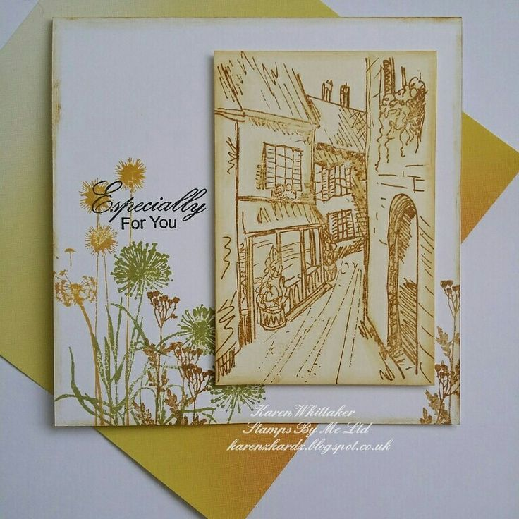 Streets of Old and Wildflower stamps by Stamps By Me  #stampsbyme #dtsample #streetsofold #wildflowers ##stamps #cards #craft #creative #ilovetocraft #creativity #karenzkardz