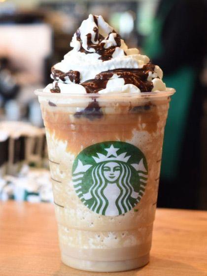 Caramel Cocoa Cluster Frappuccino