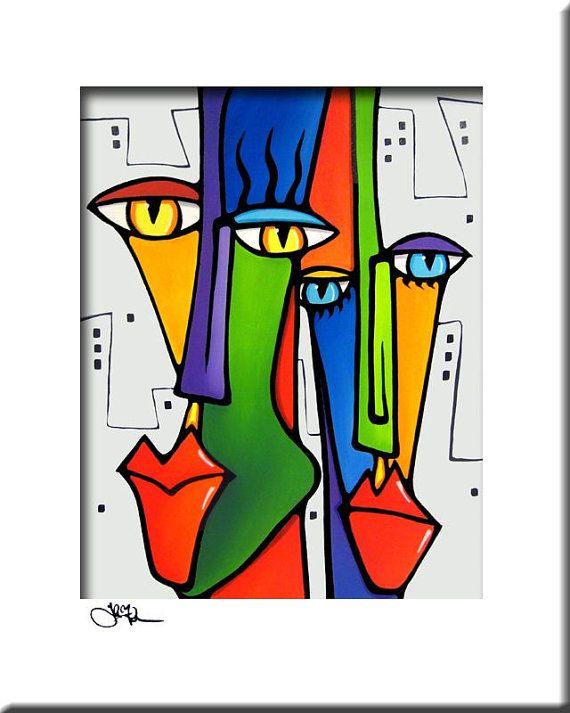 Lovin The City Original abstrakte Malerei Modern von fidostudio