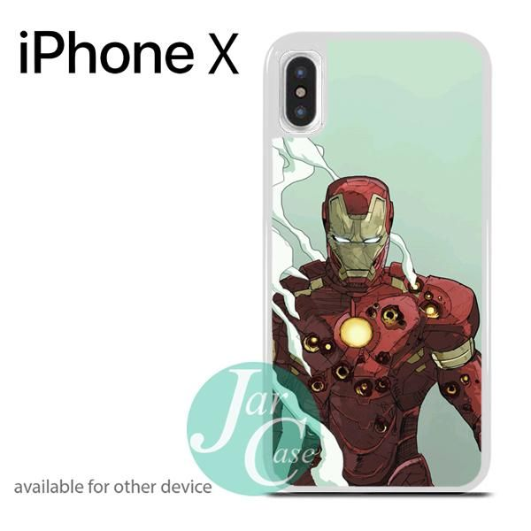 Iron Man Taking Bullets Phone case for iPhone X