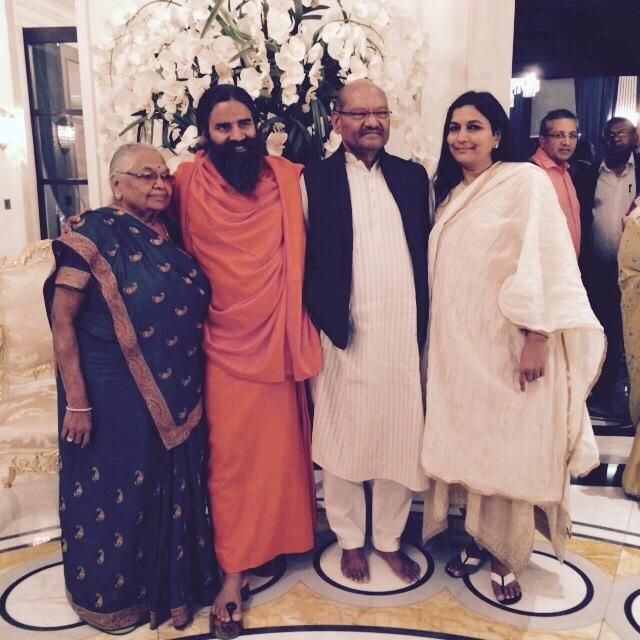 #Yoga Guru Baba Ramdev with  founder and Chairman of Vedanta Resources Anil Agarwal