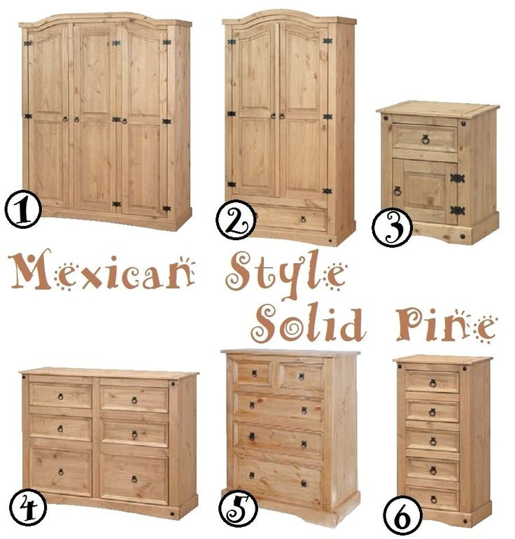 Aztec Mexican Style Solid Wood Pine Bedroom Furniture Range Pine Bedroom Furniture Furniture Mexican Style