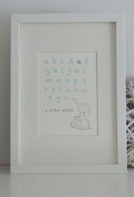 Alfabet nursery art.