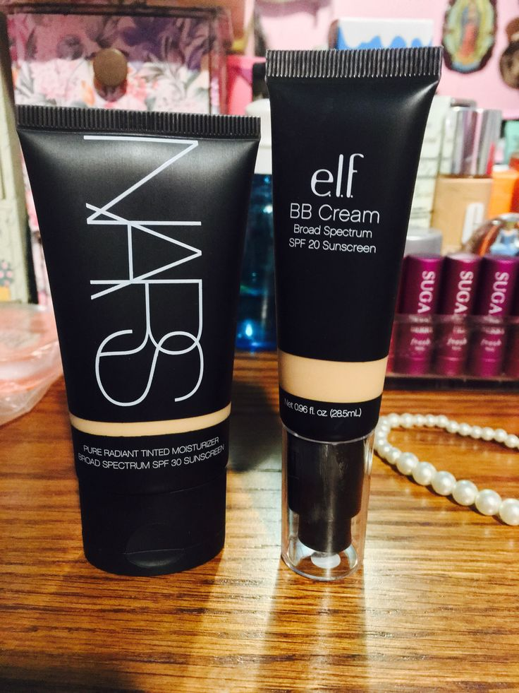 DUPE ALERT!! NARS tinted moisturizer: $45.00 & Elf BB Cream: $6.00. Both of these products work lovely! They are both the same, in my opinion. I looked around for the Elf tinted moisturizer to compare it to the NARS, but my local Walmart was sold out. I definitely recommend both, but if you're looking to save some money, elf is definitely a great option!