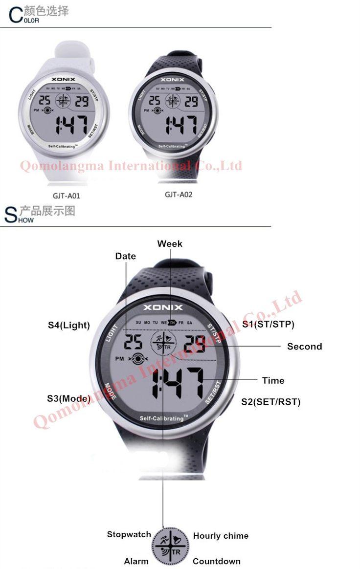XONIX Self Calibrating Интернет Времени Мужчины Спортивные Часы Водонепроницаемые 100 м Цифровые Часы Плавание Запуск Наручные Часы Montre Homme купить на AliExpress