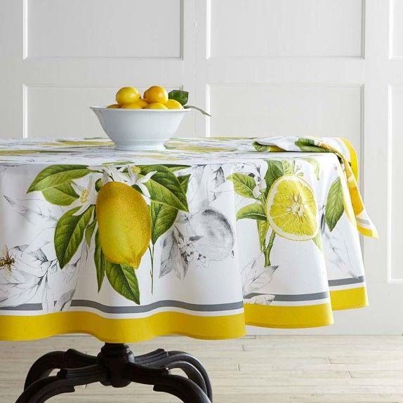 Meyer Lemon Tablecloth 70
