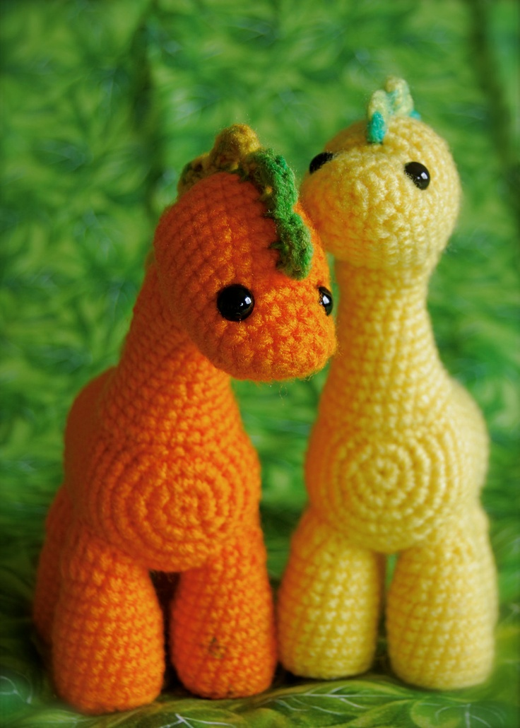 Crochet Dinosaur. So cute! I would love to learn how to make one!