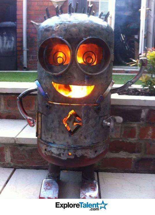 Minion Fire Pit Facebook Pins Ideas Pinterest