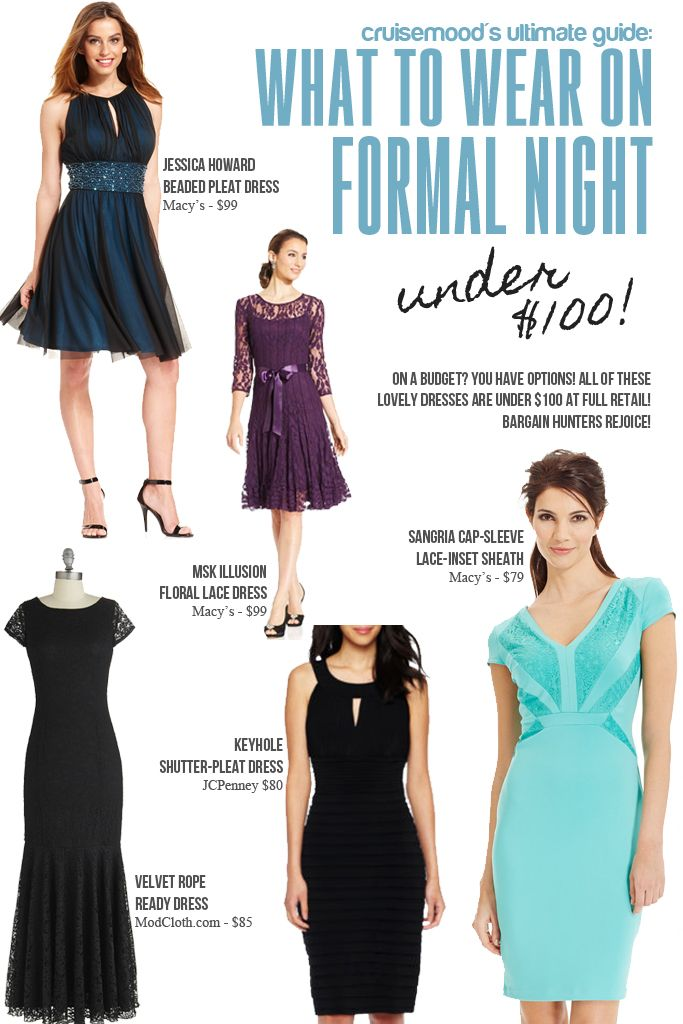 What to Wear on Formal Night - cruise mood