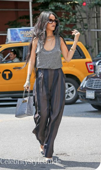 Rihanna in Haider Ackermann in New York City