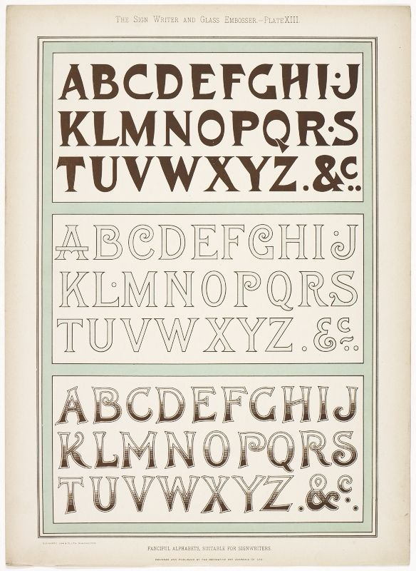 Sign Writer and Glass Embosser (1898)
