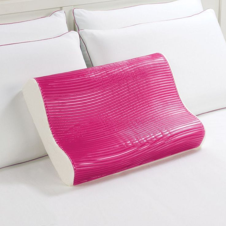 Dream Therapy Gel and Memory Foam Contour Pillow, Pink
