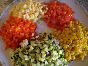 Rezept: Bunter Nudelsalat nach Weight Watchers Bild Nr. 3