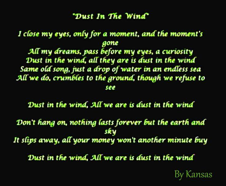 Kansas - Dust In The Wind Lyrics   MetroLyrics