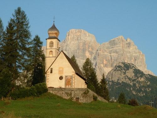Italy - Dolomiti - Chiesa di Pescul e monte Pelmo