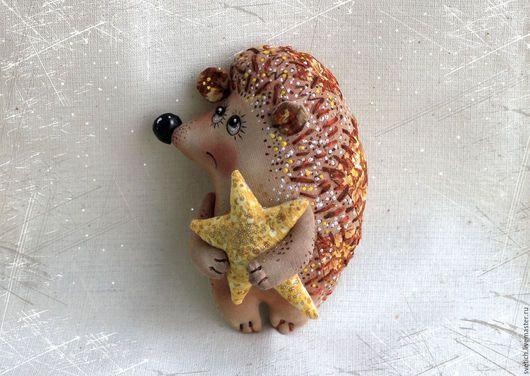 Scented doll handmade.  Fair Masters - handmade.  Buy Hedgehog.  Handmade.  Brown, a hedgehog in the fog, scented toy