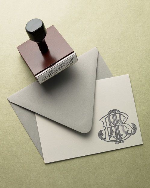 MONOGRAM: Trade your standard-script monogram for custom art from Alabama-based designer Allison R. Banks. Each hand-drawn design comes with a rubber stamp and a JPEG image for embroidery and engraving—all you need to brand everything from stationery to julep cups to linens.  Photo Credit: John Lawton