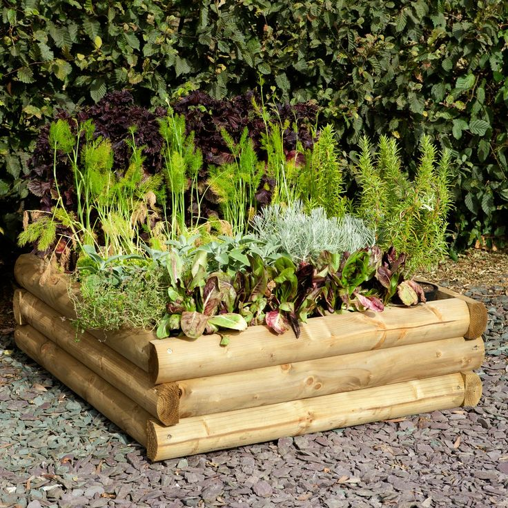 Blooma Mixed Softwood Log Raised Bench (H)300mm (W)960mm | Departments | DIY at B&Q