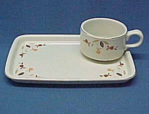 Autumn Leaf Cup Plate Snack Set Hall China Jewel Tea. Click the image for more information.