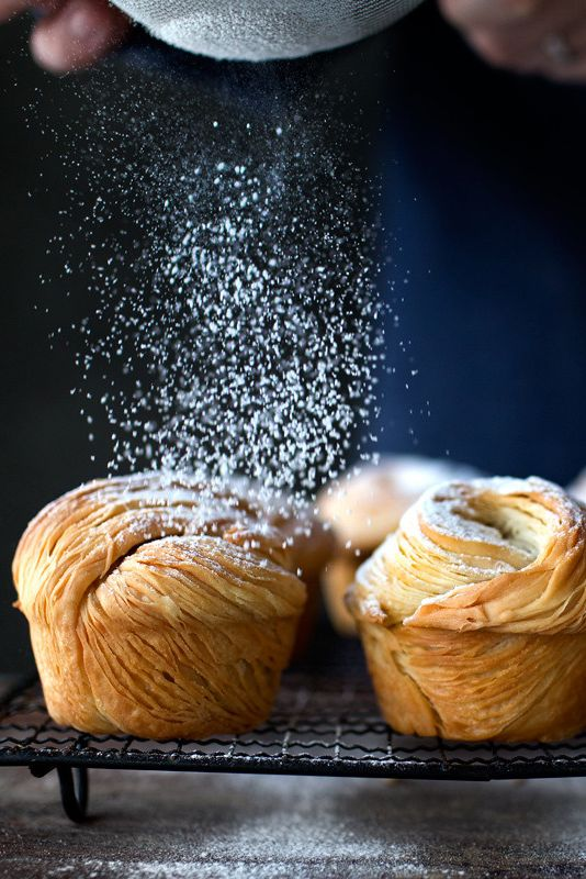 Golden, flakey, buttery cruffins - muffins made with croissant dough! | via Lady and Pups