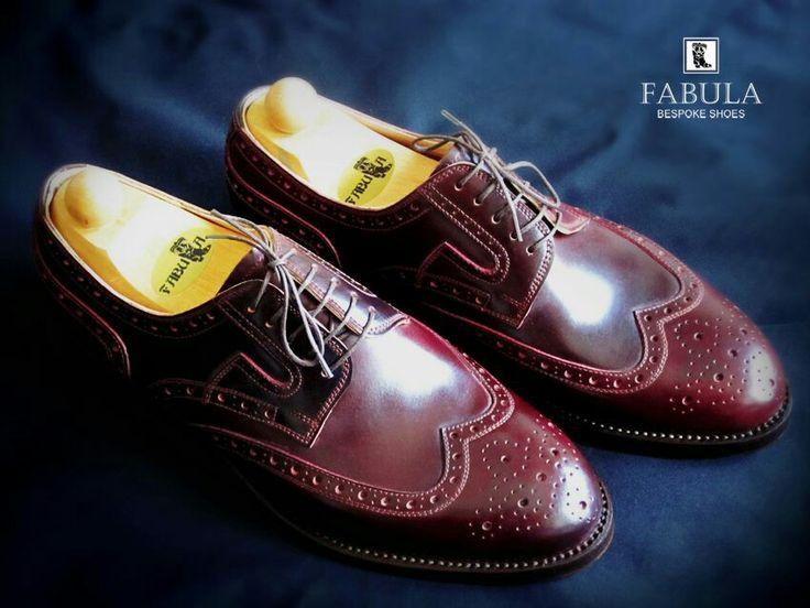 Unique handmade, bespoke men's shoes. Modell:Budapest modell (Oxblood-cordovan)