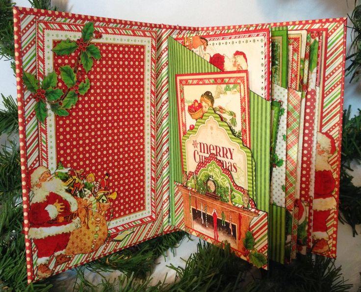 Annes Paper creations: Graphic 45 Twas the Night Before Christmas 6 x 4 pocket mini album tutorial