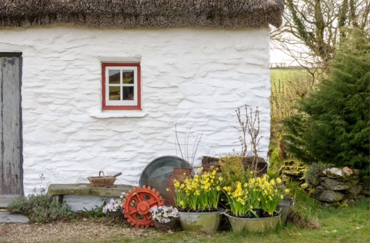 """This lovely cottage outside area is from our feature """"My Little Wales"""""""