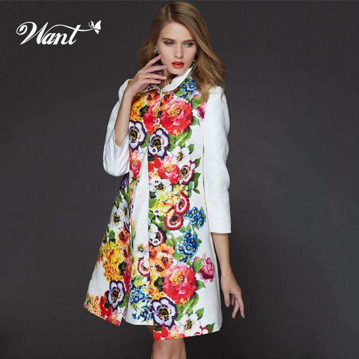Voulez chinois fleur de Style hiver Trench Coat pour les femmes 2015 élégante broderie florale tranchée manteau femme fleur coupe   vent NWT17 dans tranchée de Accessoires et vêtements pour femmes sur AliExpress.com   Alibaba Group