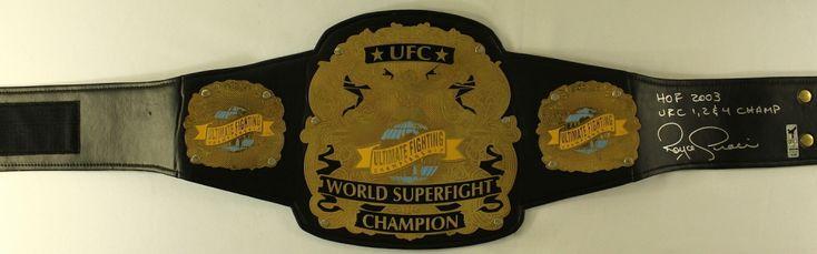 "Royce Gracie Signed Full-Size UFC #1 Championship Belt Inscribed ""HOF 2003"" & ""UFC 1, 2 & 4 Champ"" (Gracie COA)"