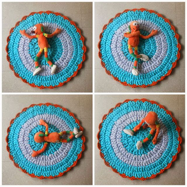 ... world of wool: tutorial how to make a carpet with t-shirt yarn ( 3