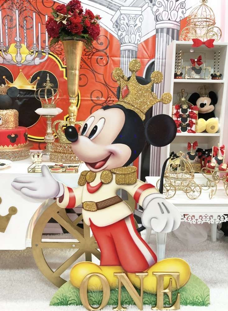 Mickey Mouse Royal King Birthday Party Ideas Fiesta Mickey Mouse Mickey Party Mickey First Birthday
