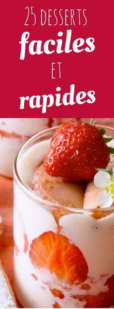 desserts chocolat ou fruits rapides