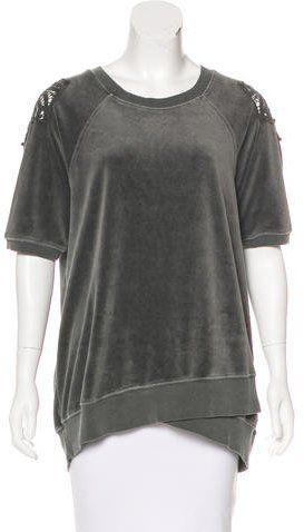 Pam & Gela Velour Short Sleeve sweatshirt