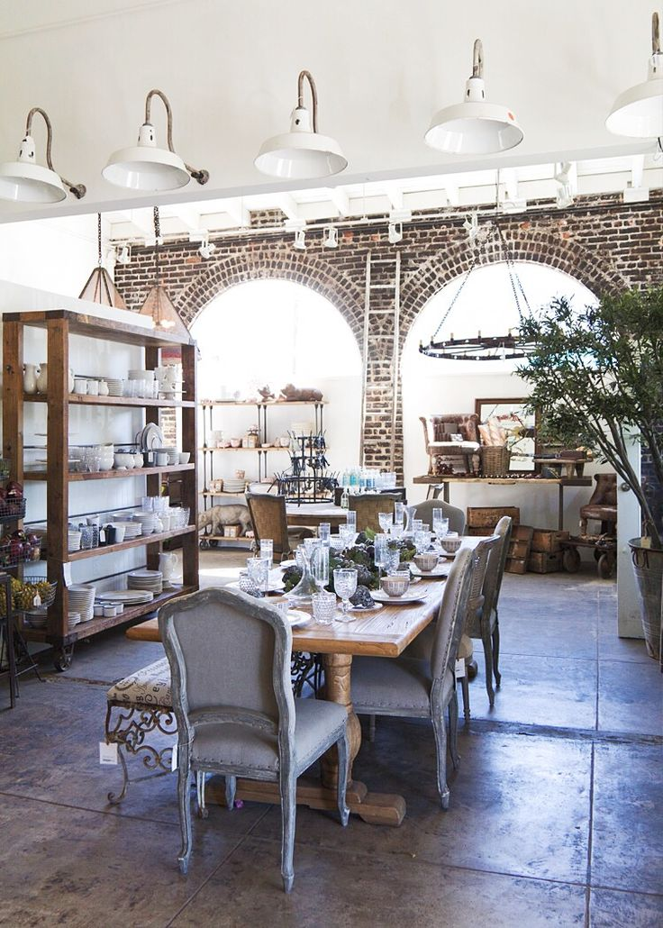 Rustic Dining Via Anne Sage
