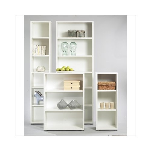 Bundle 59 Tvilum Fairfax Tall Narrow Bookcase In White