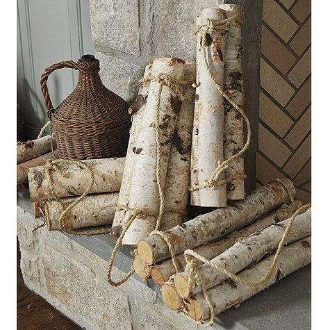 Bring the organic texture and unvarnished beauty of winter white birch logs into your home. We love them anywhere for an elegant minimalist look.
