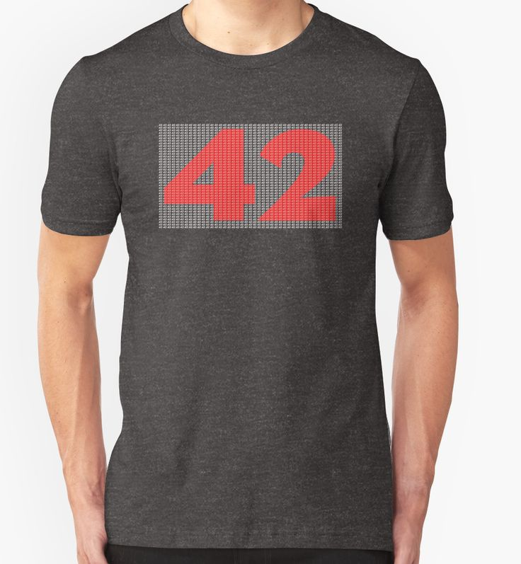 The Number 42, Hitch Hikers Guide To The Galaxy inspired Tshirt and accessories  by GarfunkelArt
