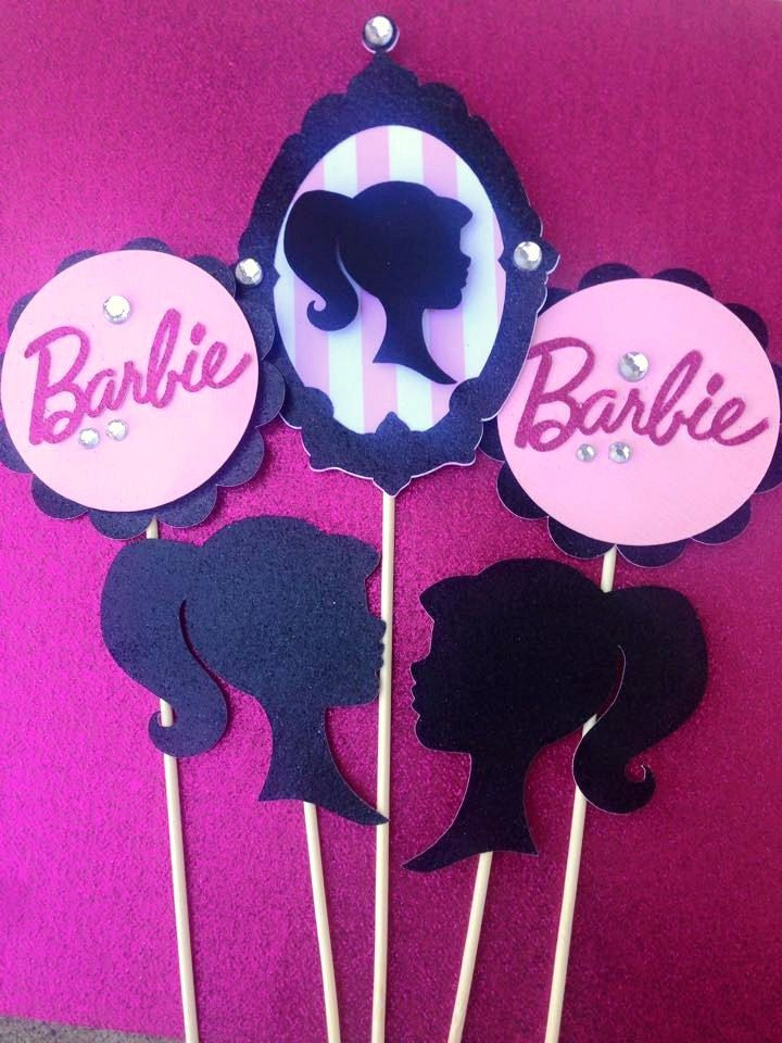 5 piece Barbie Themed Centerpeice, Barbie Birthday, Barbie Party Decor, Vintage Barbie Party, Barbie Baby Shower by LanvisB on Etsy