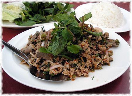 Cucina Thailandese: insalata di carne tritata (Laab, o Larb o Laap)